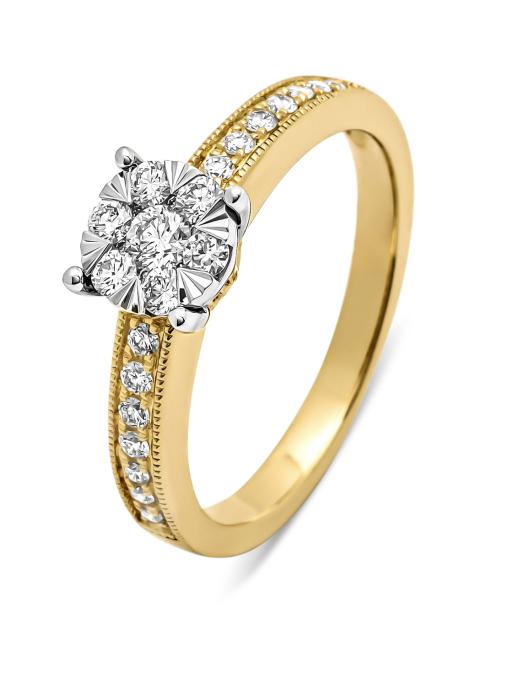 Diamond Point Gouden ring, 0.40 ct diamant, Enchanted