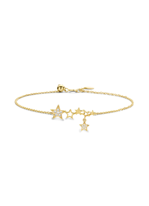 Diamond Point Cosmic bracelet in 14 karat yellow gold
