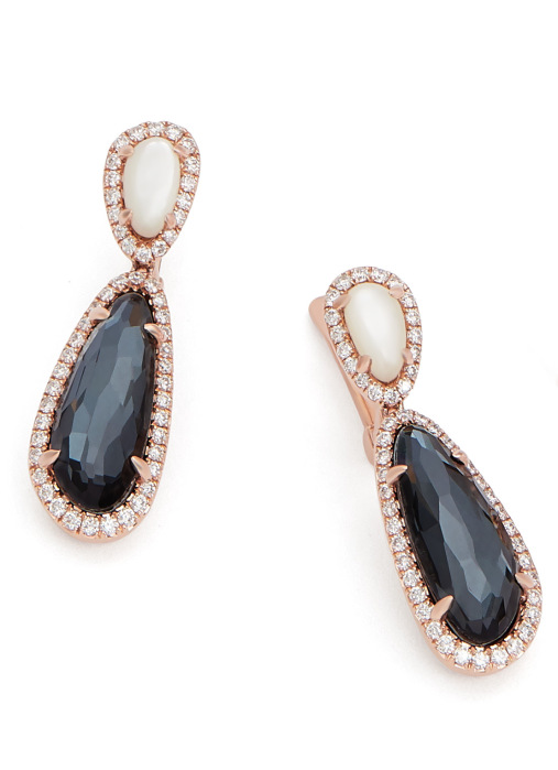 Diamond Point Roségouden oorsieraden, 6.38 ct hematiet, Gallery