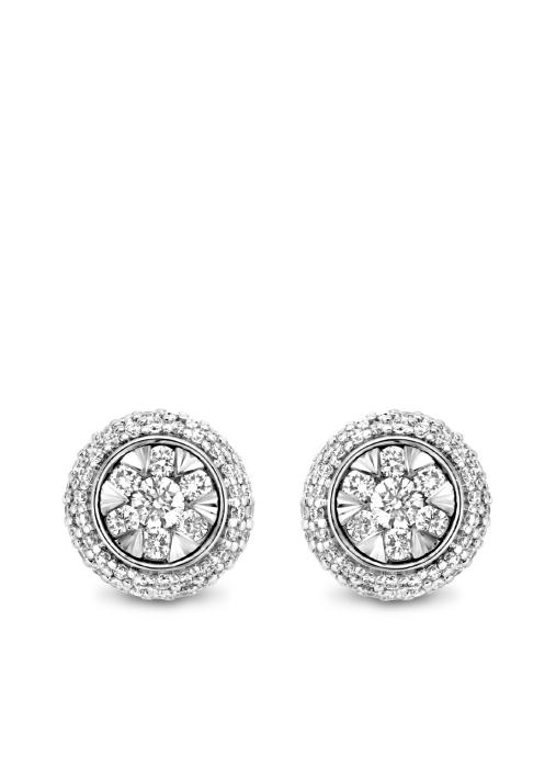 Diamond Point Enchanted earrings in 14 karat white gold
