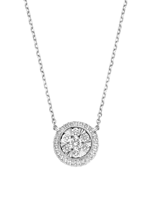 Diamond Point Witgouden collier, 0.40 ct diamant, Enchanted