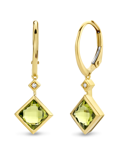 Diamond Point Philosophy earrings in 14 karat yellow gold