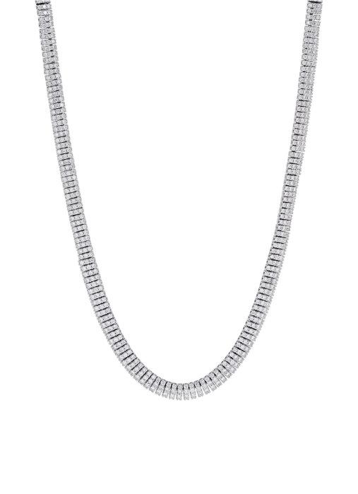 Diamond Point Gallery necklace in 18 karat white gold
