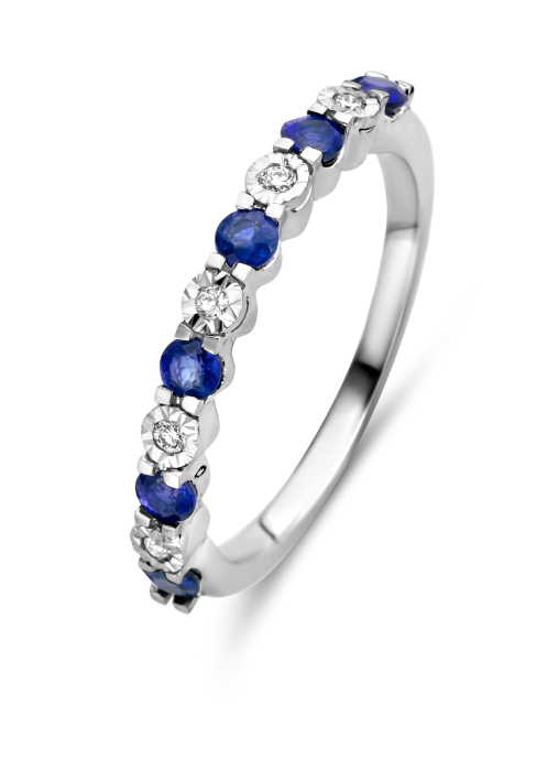 Diamond Point Witgouden ring, 0.57 ct saffier, Colors