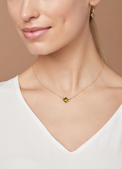 Diamond Point Philosophy necklace in 14 karat yellow gold
