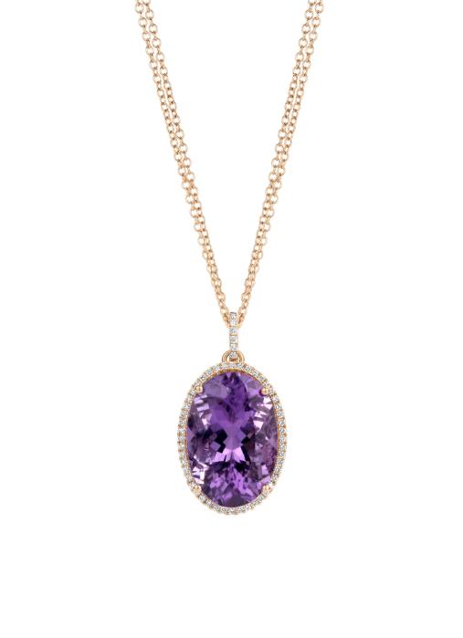 Diamond Point Gallery pendant in 14 karat rose gold