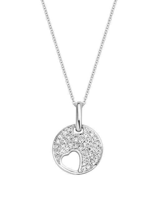 Diamond Point Symbols pendant in 14 karat white gold