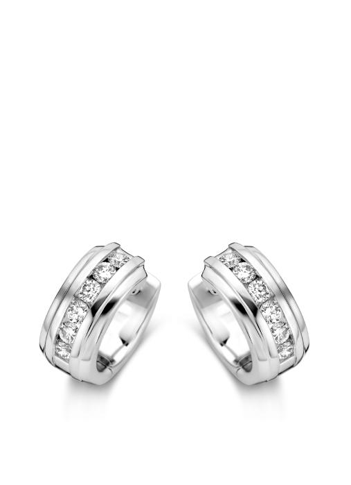 Diamond Point Wedding Ohrringe in 14K Weißgold