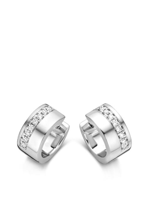 Diamond Point Witgouden oorsieraden, 0.19 ct diamant, Wedding