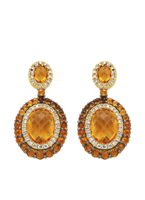 Diamond Point Opéra earrings in 14 karat yellow gold