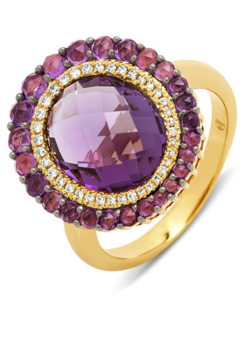 Diamond Point Ring in 14K Gelbgold