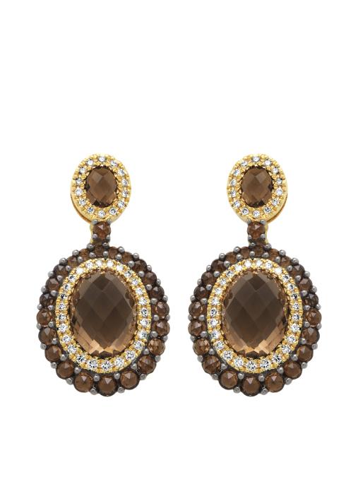 Diamond Point Opéra earrings in 14 karat yellow gold