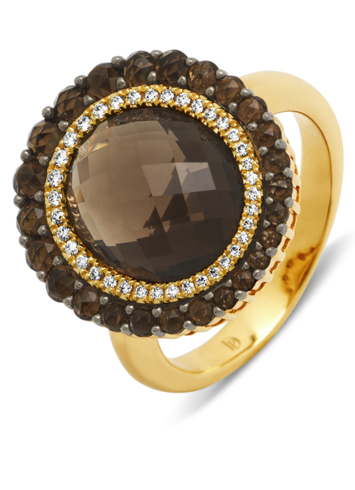 Diamond Point Opéra ring in 14 karat yellow gold