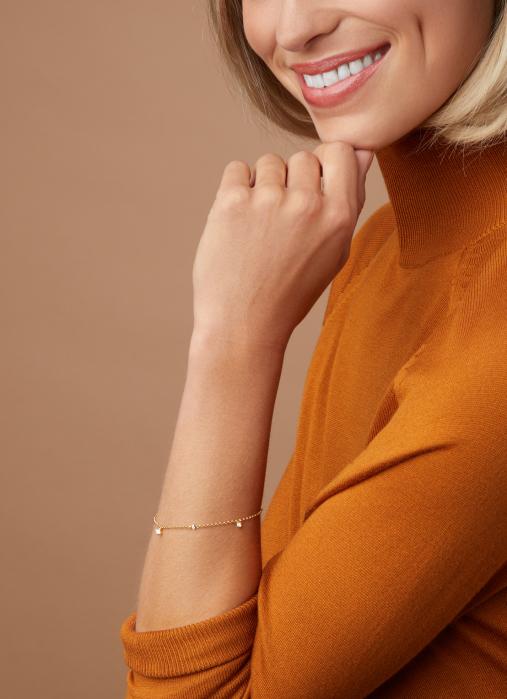 Diamond Point Geelgouden armband, 0.23 ct diamant, Hearts & Arrows