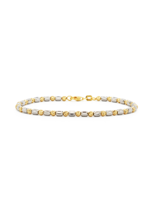 Diamond Point Ensemble bracelet in 18 karat white and yellow gold