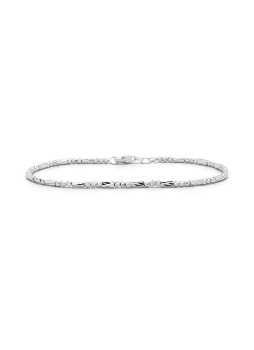 Diamond Point Ensemble bracelet in 18 karat white gold