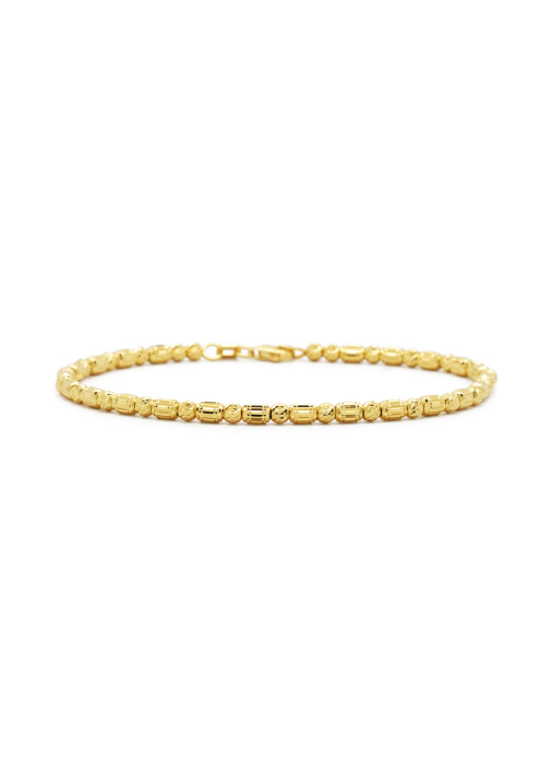 Diamond Point Massief geelgouden armband Ensemble