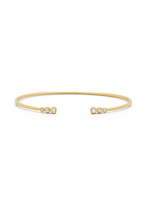 Diamond Point Geelgouden armband, 0.20 ct diamant, La Dolce Vita