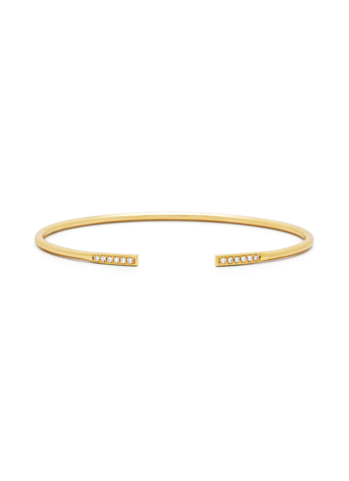 Diamond Point Geelgouden armband, 0.10 ct diamant, La Dolce Vita