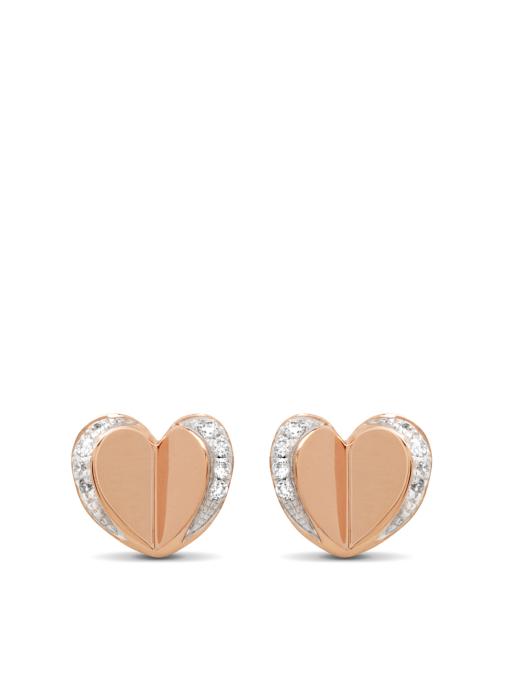 Diamond Point Symbols earrings in 14 karat rose gold