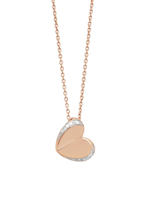 Diamond Point Symbols necklace in 14 karat rose gold