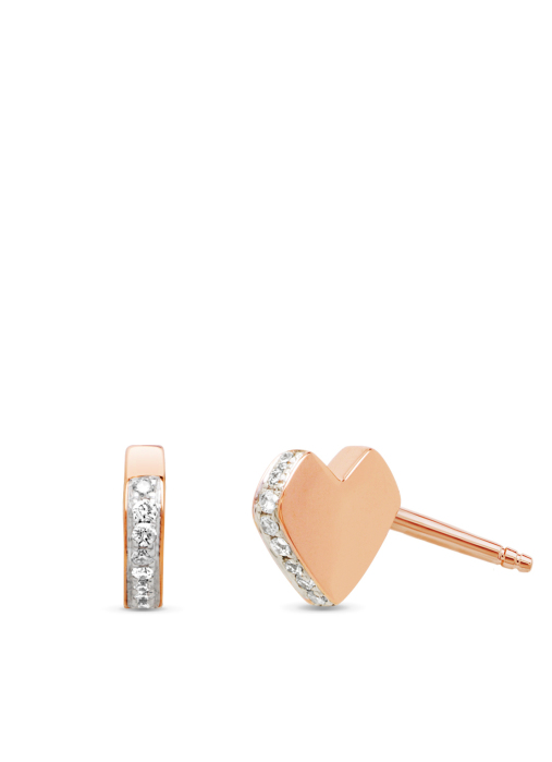 Diamond Point Symbols earrings in 14 karat rose gold
