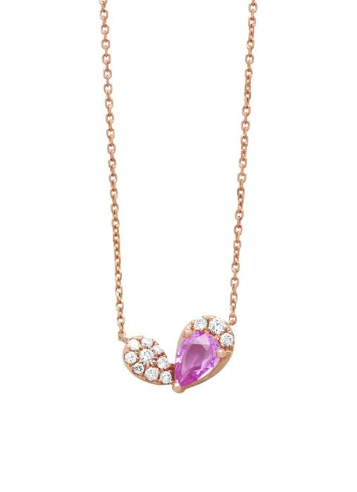 Diamond Point Colors pendant in 14 karat rose gold