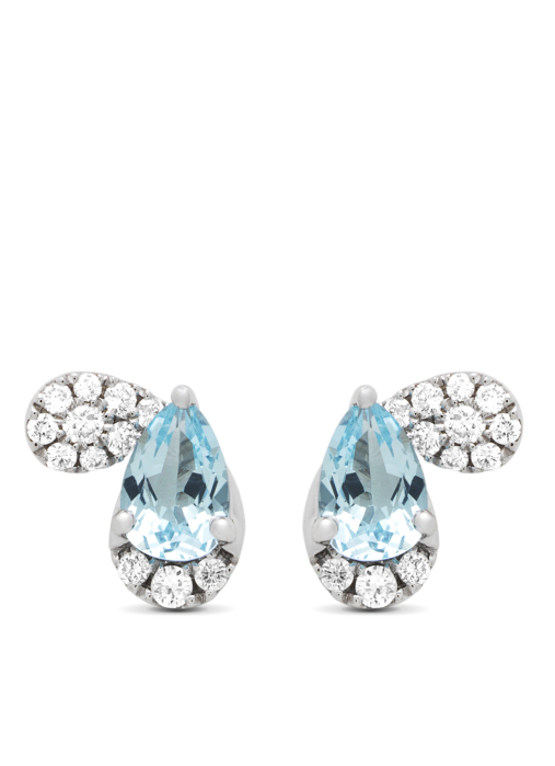 Diamond Point Colors earrings in 18 karat white gold