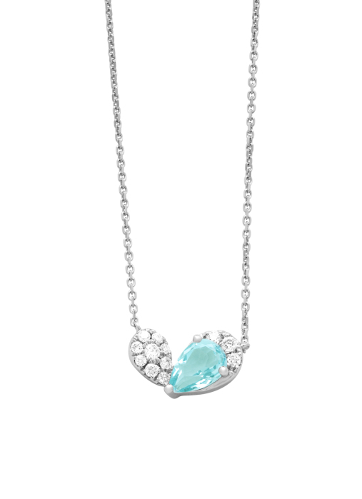 Diamond Point Colors pendant in 18 karat white gold