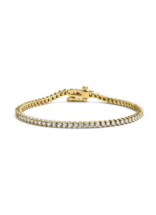 Diamond Point Geelgouden armband, 2.00 ct diamant, Hearts & Arrows