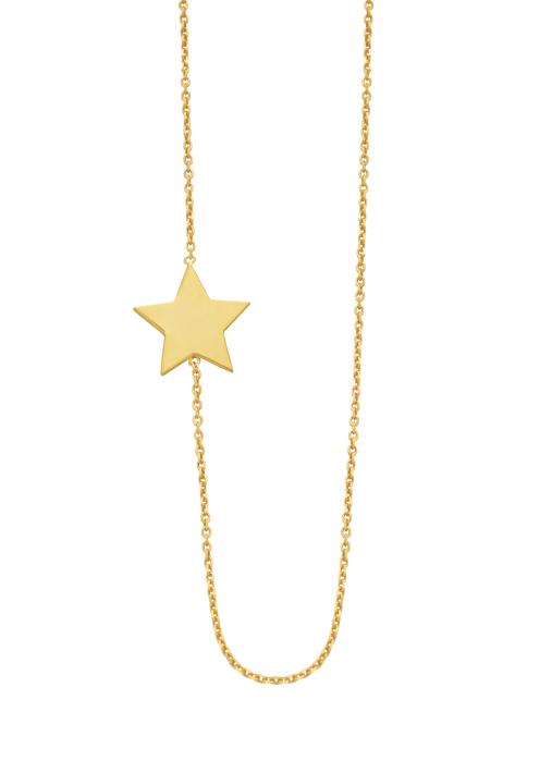 Diamond Point Halskette in 14K Gelbgold