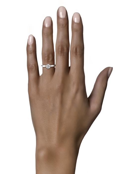 Diamond Point Witgouden ring, 0.18 ct diamant, Solitair