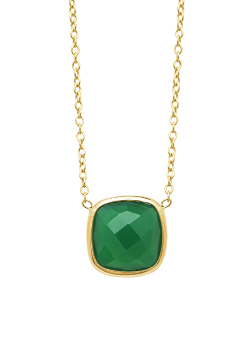 Diamond Point Geelgouden collier, 3.50 ct agaat, Earth