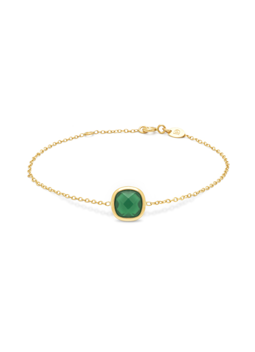 Diamond Point Earth Armband in 14K Gelbgold