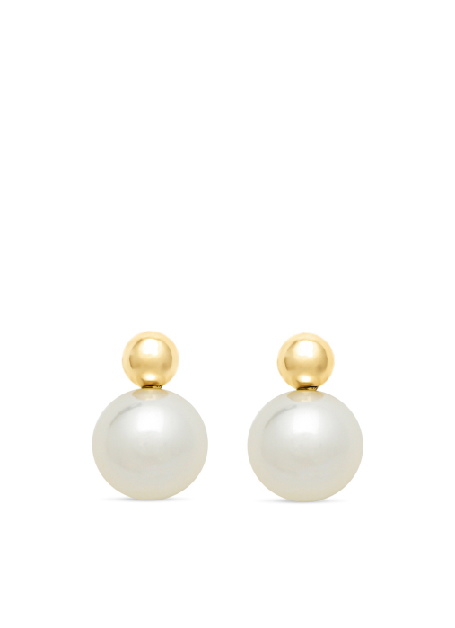 Diamond Point Rivièra earrings in 18 karat yellow gold