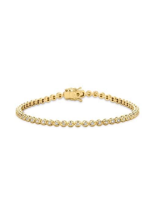 Diamond Point Tennis bracelet bracelet in 14 karat yellow gold