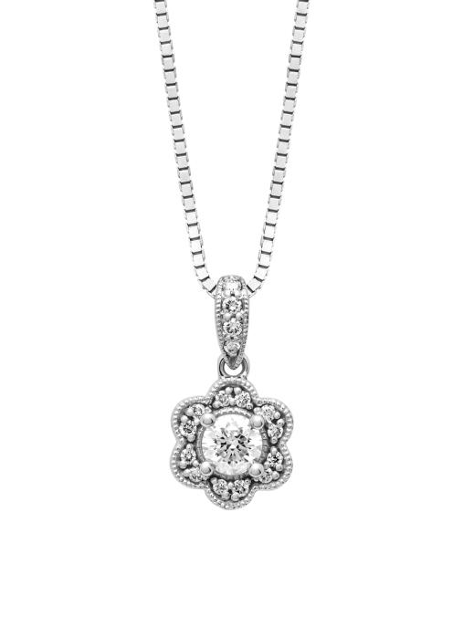 Diamond Point Witgouden hanger, 0.31 ct diamant, Since 1904