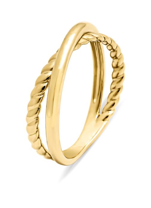 Diamond Point Circle of life ring in 14 karat yellow gold