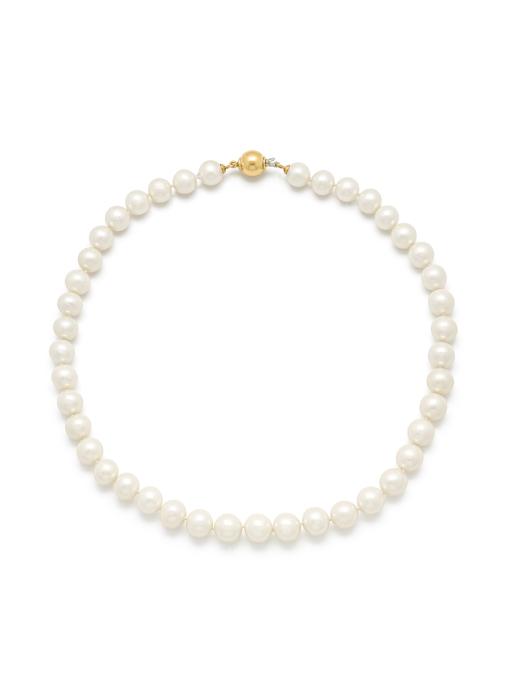 Diamond Point Rivièra necklace in 18 karat yellow gold