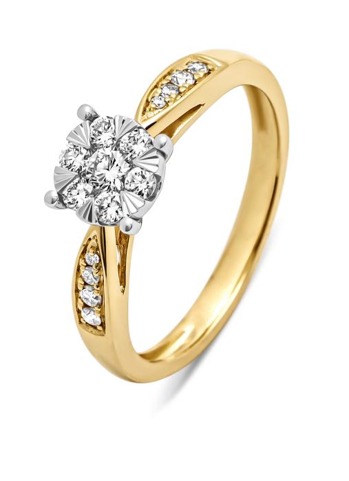 Diamond Point Gouden ring, 0.35 ct diamant, Enchanted