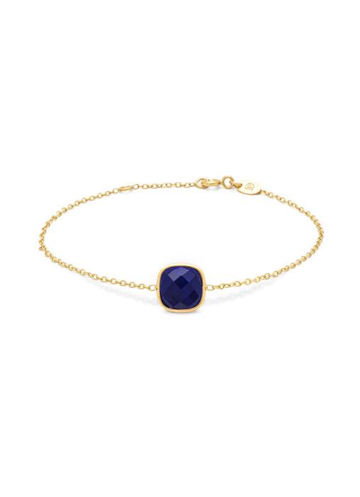 Diamond Point Geelgouden armband, 1.75 ct lapis, Earth