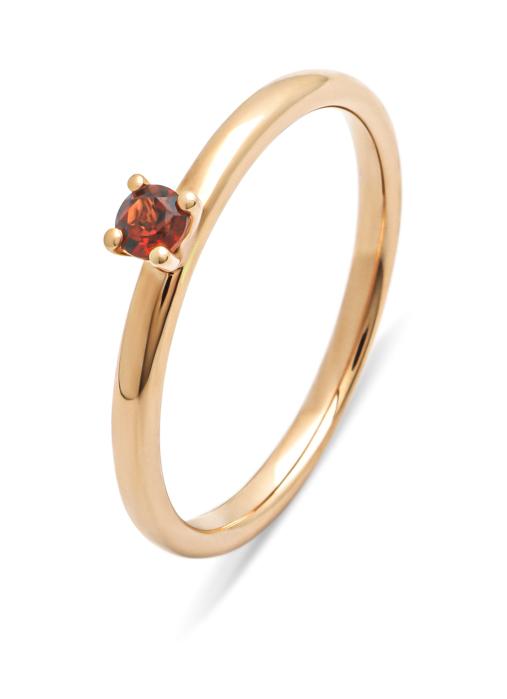 Diamond Point Roségouden ring, 0.13 ct granaat, Four Seasons