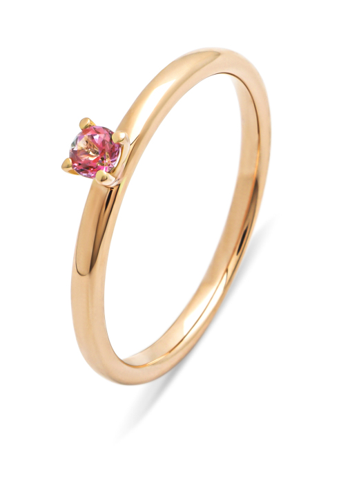 Diamond Point Ring in 14K Roségold