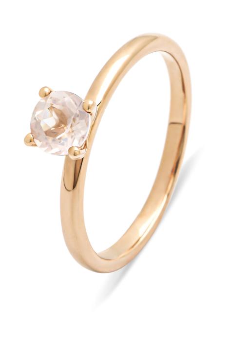 Diamond Point Ring in 14K Roségold