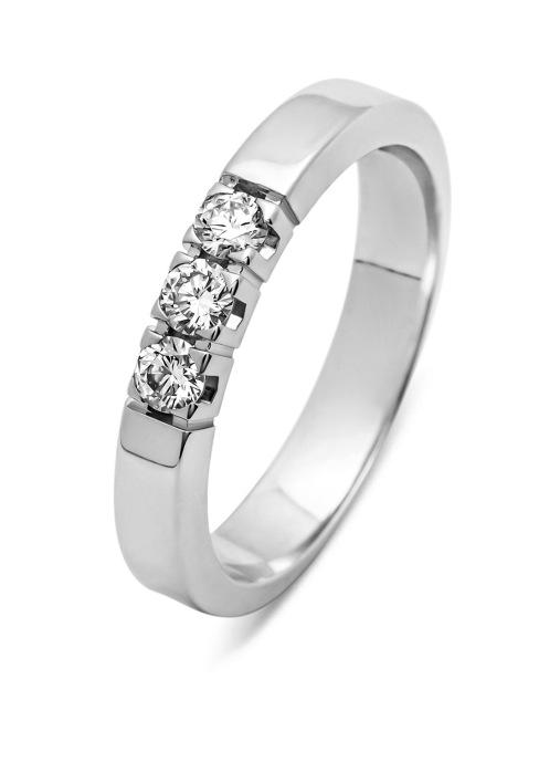 Diamond Point Witgouden ring, 0.25 ct diamant, Alliance