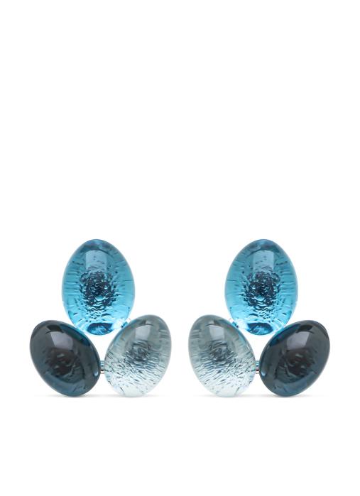 Diamond Point Witgouden oorsieraden, 7.76 ct topaas, Little Drops