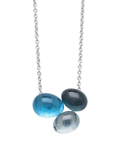 Diamond Point Witgouden collier, 5.11 ct topaas, Little Drops