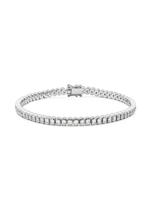 Diamond Point Witgouden armband, 3.02 ct diamant, Tennis bracelet