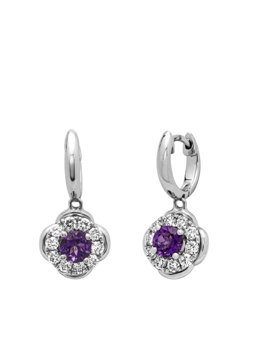Diamond Point Colors earrings in 18 karat white gold