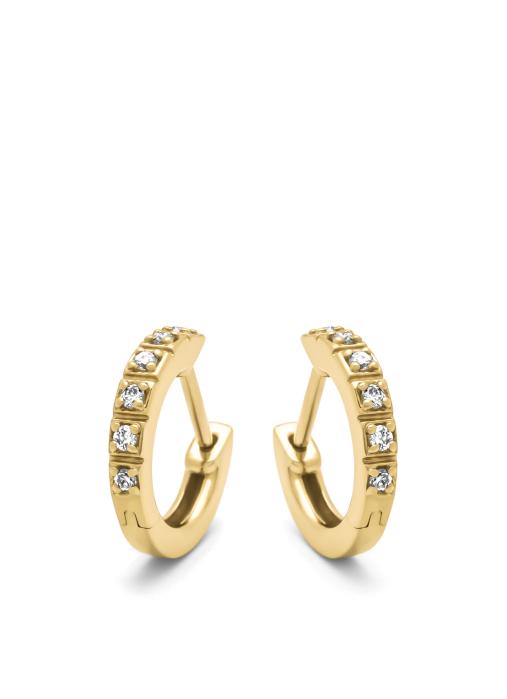 Diamond Point Geelgouden oorsieraden, 0.11 ct diamant, Ensemble